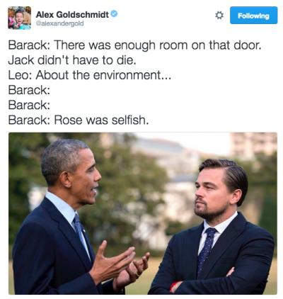 President Obama Met Leonardo DiCaprio And It Turned Into A Meme