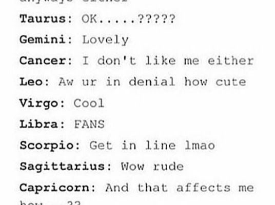 """How the zodiac signs react to """"I don't like you."""" #zodiacsigns explore Pinterest""""> #zodiacsigns…"""