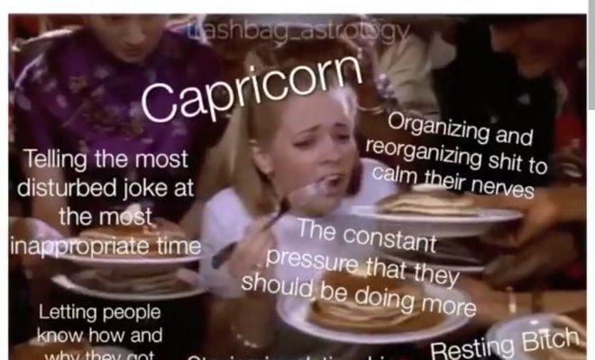 Capricorn meme, astrology meme, zodiac