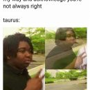 Taurus meme, astrology meme, zodiac