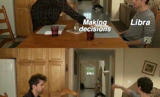 Libra meme, astrology meme, zodiac