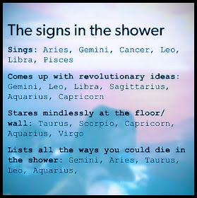 """The Zodiac Signs In The Shower. #astrology explore Pinterest""""> #astrology #funny explore Pinterest""""> #funny…"""