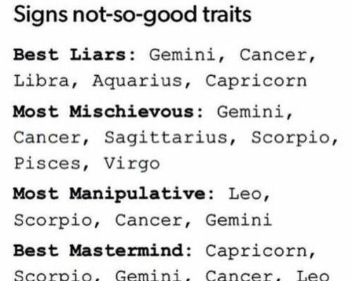 Notice how Cancer is in every one of these = don't mess with me