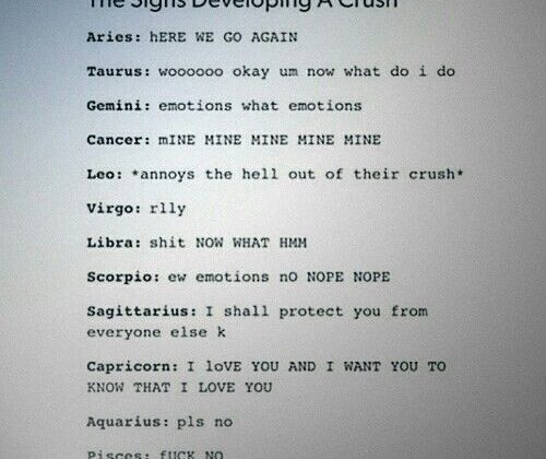 As an Aries I can confirm that's exactly how I feel