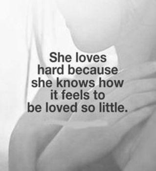 She loves hard…