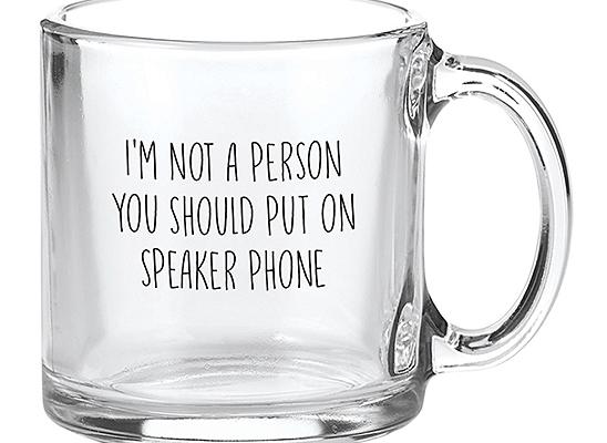 Santa Barbara Design Studio Speaker Phone Glass Mug | Zulily