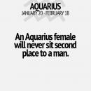 Una mujer de acuario jamas se siente en segundo lugar frente a un
