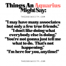 Zodiac Files: Things An Aquarius Might Say