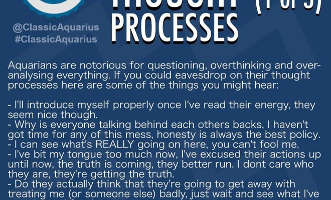 What goes on in an Aquarians mind? A look into an Aquarians thought processes.…