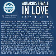 AQUARIUS FEMALE IN LOVE. . #ClassicAquarius #Aquarian #Aquarius