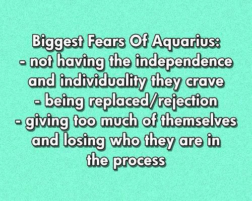 Fears of an Aquarius