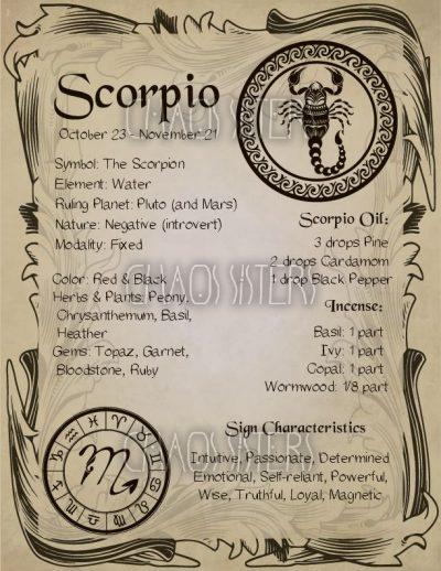#BookOfShadows #correspondence #zodiac #sign #scorpio