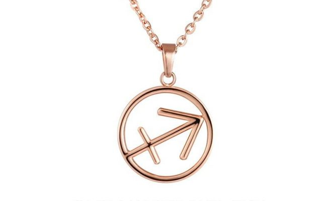 Sagittarius Zodiac Sign Necklace. Available in Rose Gold Plated, 18k Gold Plated, Stainless Steel,…