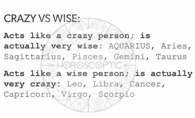 Crazy vs. Wise