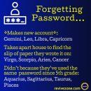 forgetting password, zodiac signs, aries, taurus, gemini, cancer, leo, virgo, libra, scorpio, sagittarius, capricorn,…