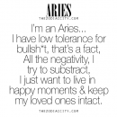 Zodiac Aries. For more zodiac fun facts, click here