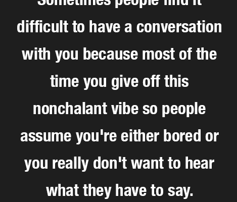 Ok but most of the time I just don't want to hear what u…
