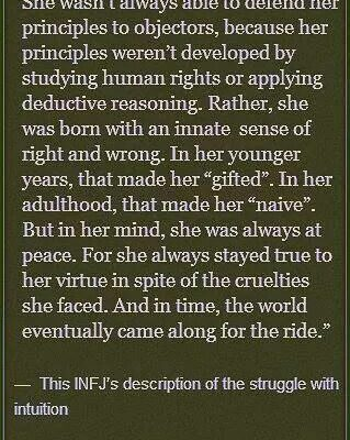 """Infj. As children we are called """"Gifted"""" as adults we are called """"naive"""" another…"""