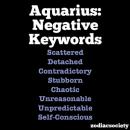 Aquarius Negative Traits