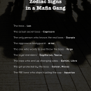 Find out who you'd be in a mafia gang. #dailyhoroscope #todayhoroscope #horoscope #zodiacsigns #