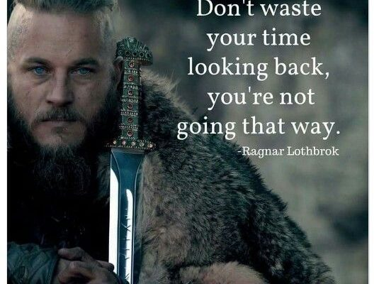 Don't waste time looking back