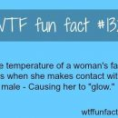 #1328 – The temperature of a woman's face rises when she makes contact with…