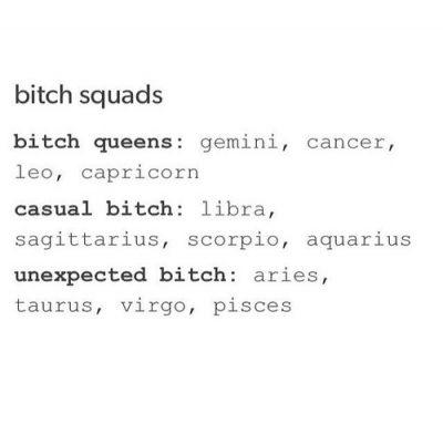 12 Zodiac Signs Bitch Squads: Queens~Cancer Zodiac Sign