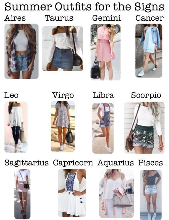 Zodiac Signs Outfits For Summer Zodiac Memes