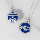 Aquarius Pendant Necklace For Personalized Zodiac Gifts | 34″ Aquarius Zodiac Locket Necklace |…