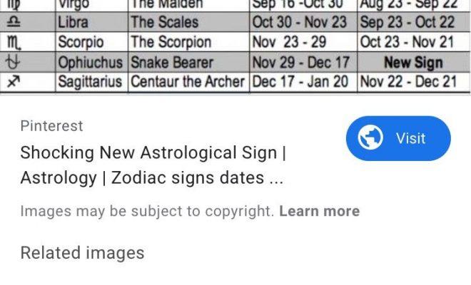 New Zodiac Sign Dates💗