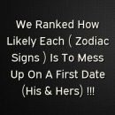 We Ranked How Likely Each ( Zodiac Signs ) Is To Mess Up On…