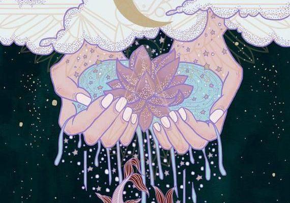 Pisces Zodiac/Tarot Digital Illustration | Etsy