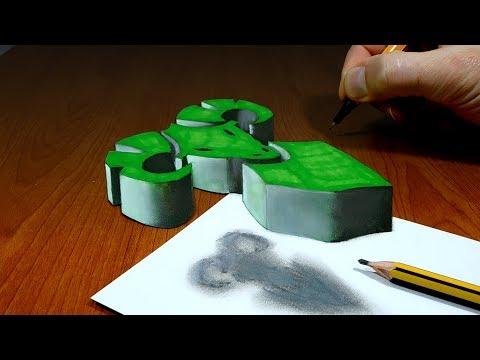 3D Trick Art On Paper, Zodiac, Astrology Signs, Aries