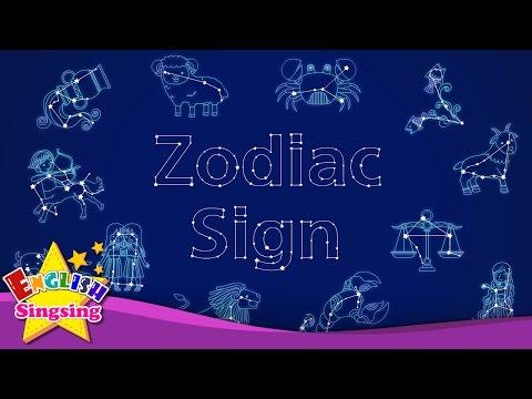 Kids vocabulary – Zodiac sign – 12 Zodiac signs – star signs – English educational video