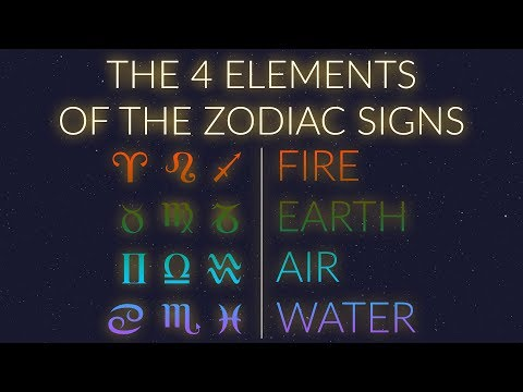 THE 4 ELEMENTS of the Zodiac Signs