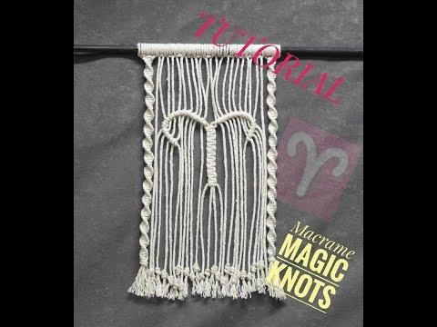 DIY Wall Hanging Macrame Zodiac Sign Aries ♥ Macrame Magic Knots ♥