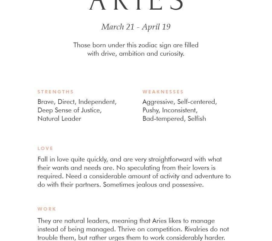 Aries horoscope meaning images