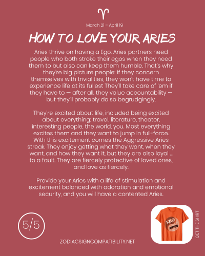Zodiac Signs Compatibility: Aries Compatibility – How to love your Aries #5