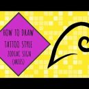 How To Draw Tattoo Style Zodiac Sign (ARIES) – Zodiac Sign Series
