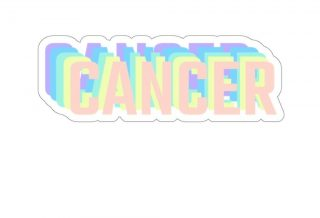 Retro Rainbow Cancer Zodiac Sign Sticker, Cancer Decal, Gift for Cancer, 70s Aesthetic by…