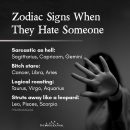 Zodiac Signs When They Hate Someone