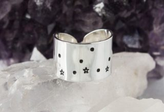 Virgo Zodiac Constellation Ring. Zodiac jewelry. by ZennedOut