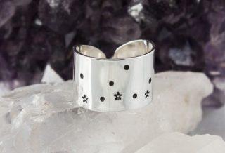 Virgo Zodiac Constellation Ring. Zodiac jewelry. by ZennedOut