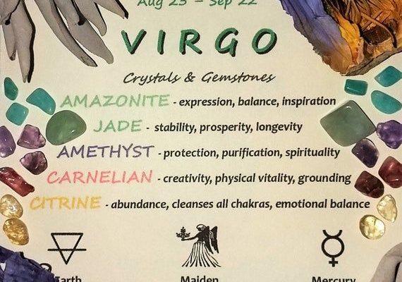 VIRGO Zodiac Crystal Roller Bottle  Virgo Gift Astrology   Etsy