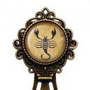 Zodiac Symbol Astrology Scorpio Bronze Bookmark