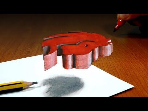 3D Trick Art On Paper, Zodiac, Astrology Signs, Leo