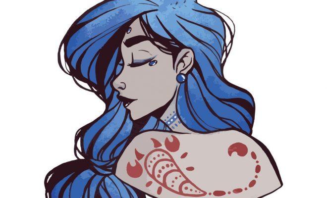 Scorpion déesse de carte postale lastrologie Star signs | Etsy