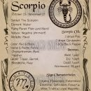 Scorpio Zodiac Sign Book of Shadow Printable PDF page, Wicca, Astrology, Horoscope, Correspondence,
