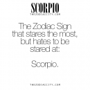 Zodiac Scorpio Facts. For much more on the zodiac signs, click here