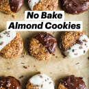 Easy No BakeAlmond Cookies   Healthy Recipe   Vegan + Gluten-Free